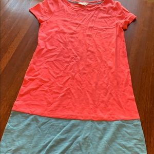 Biden t-shirt dress in coral pink and blue size 2R